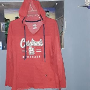 St. Louis Cardinals Ladies hooded sweatshirt